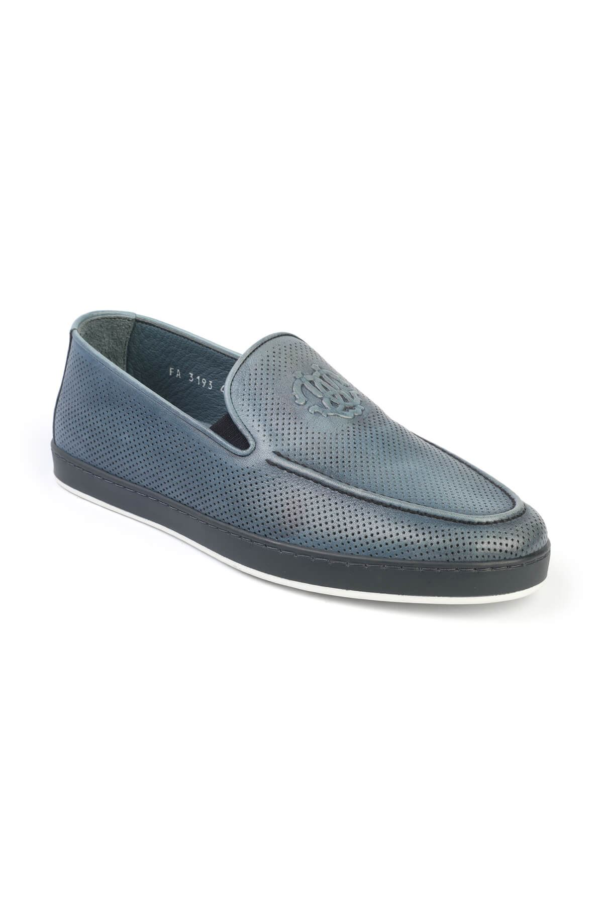 Libero 3193 Blue Loafer Shoes