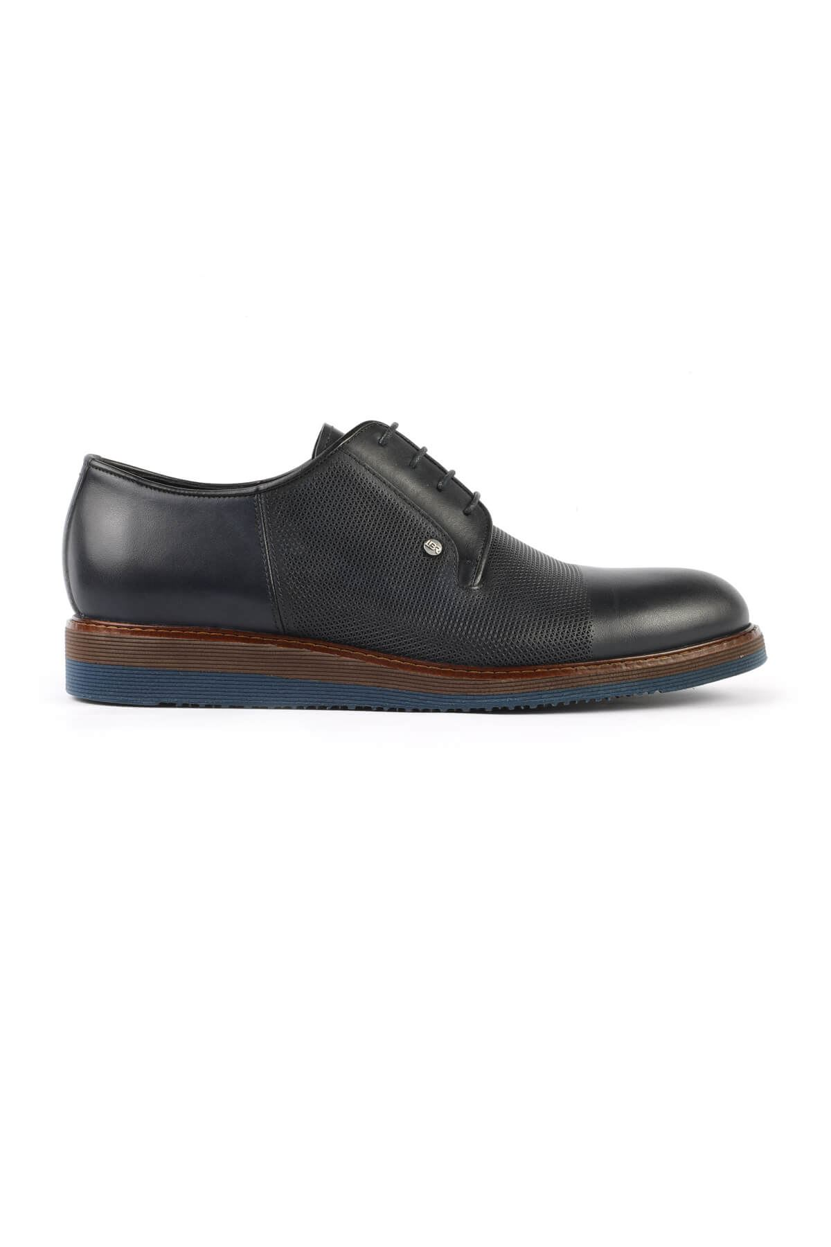Libero 3052 Navy Blue Oxford Shoes