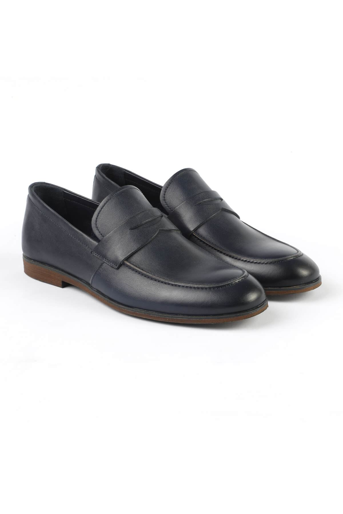 Libero L160 Navy Blue Loafer Shoes