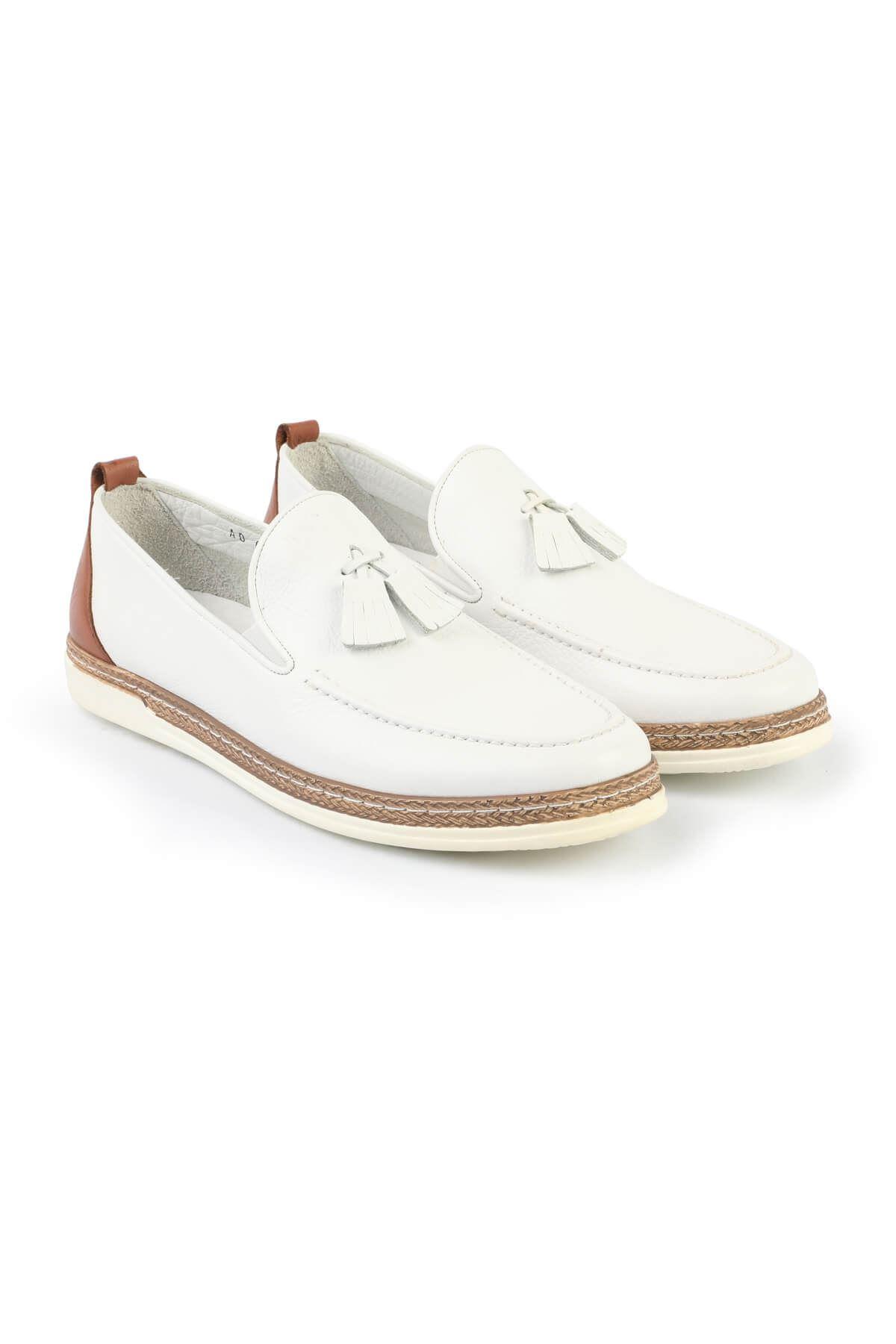Libero C625 White Loafer Shoes