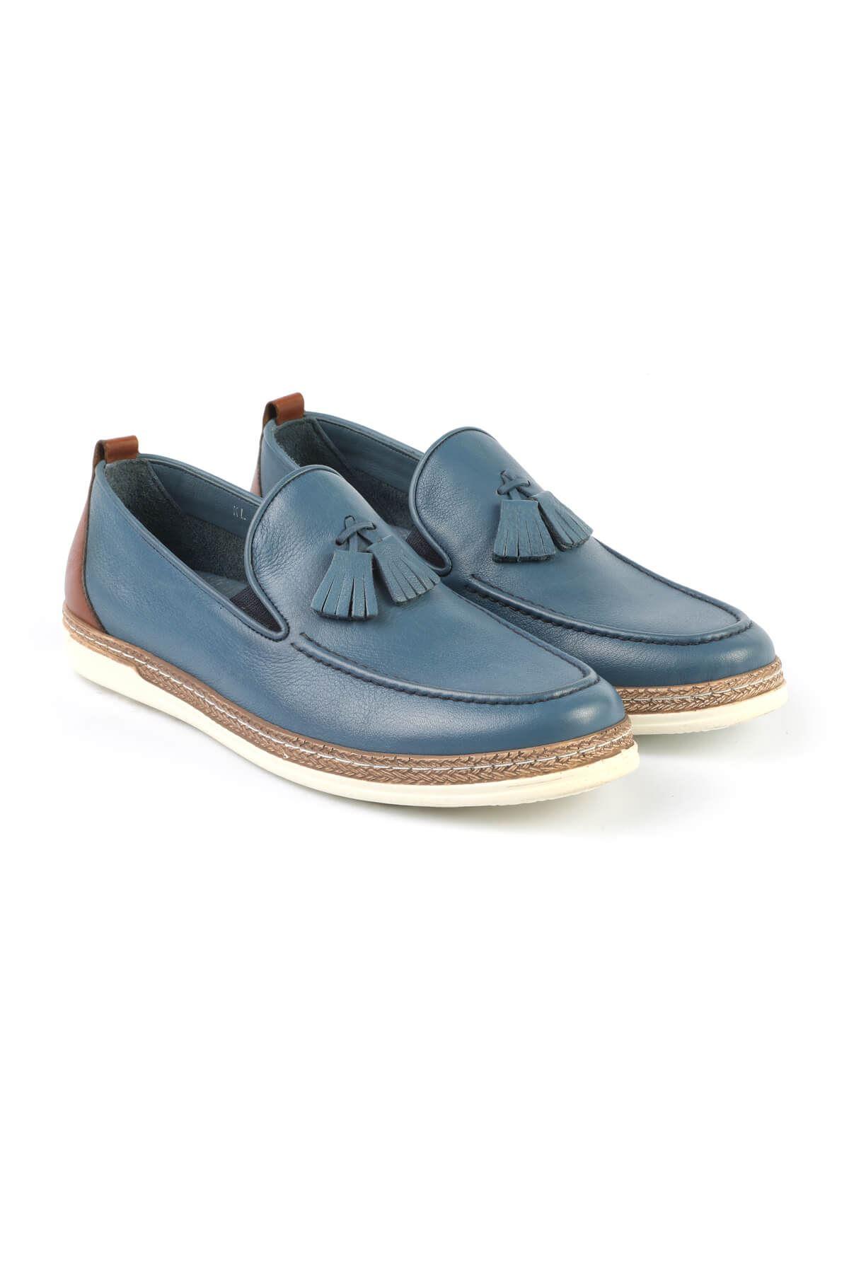 Libero C625 Blue Loafer Shoes