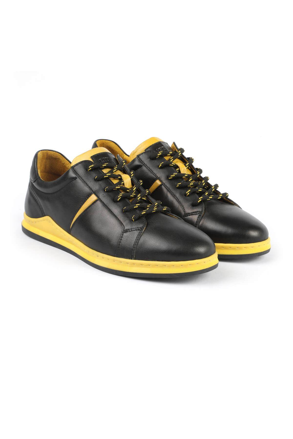 Libero 3196 Black Yellow Sneaker Shoes