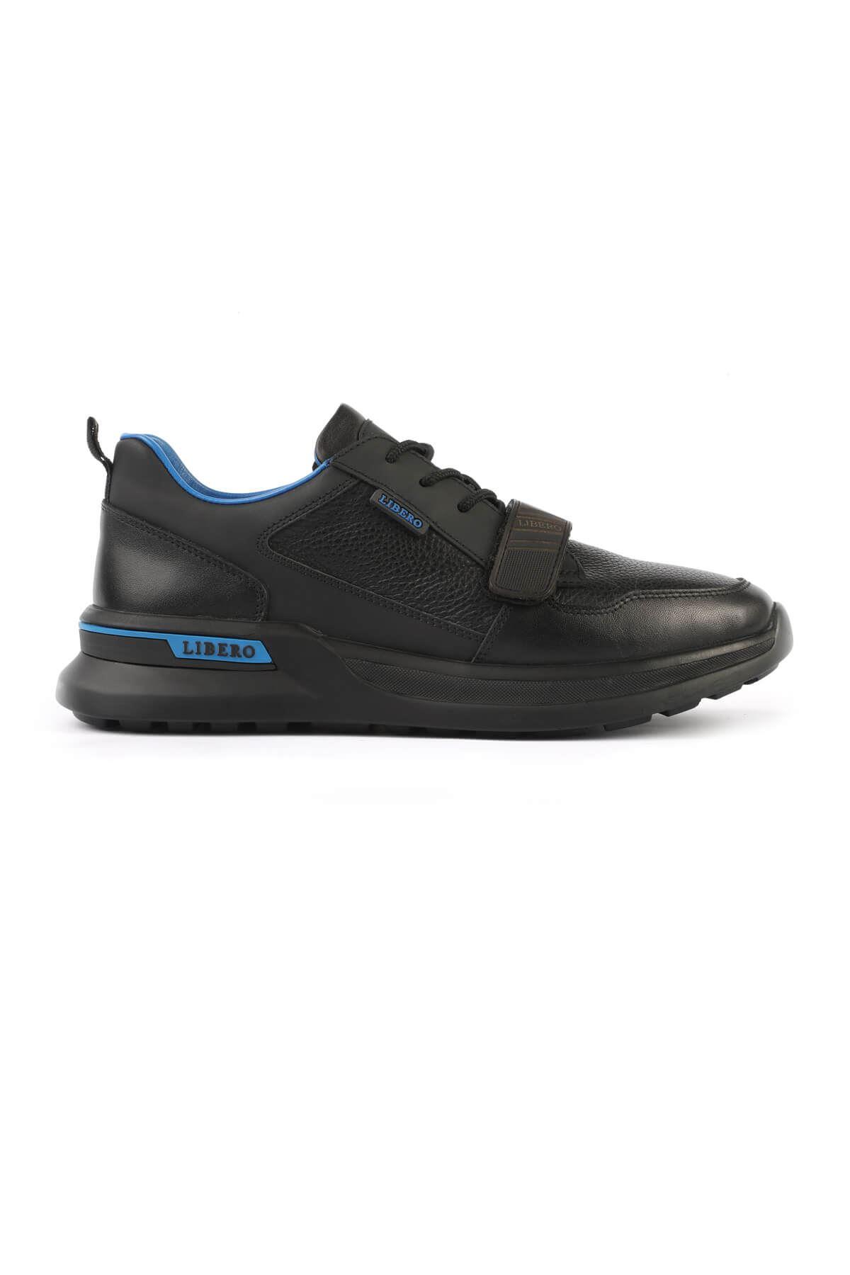 Libero 3141 Siyah Mavi Spor Ayakkabı