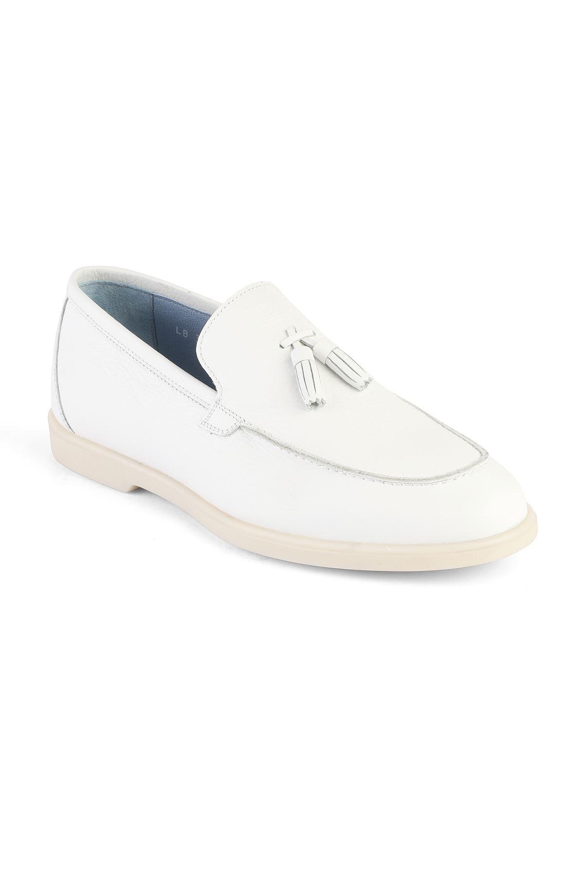 Libero 3219 White Loafer Shoes