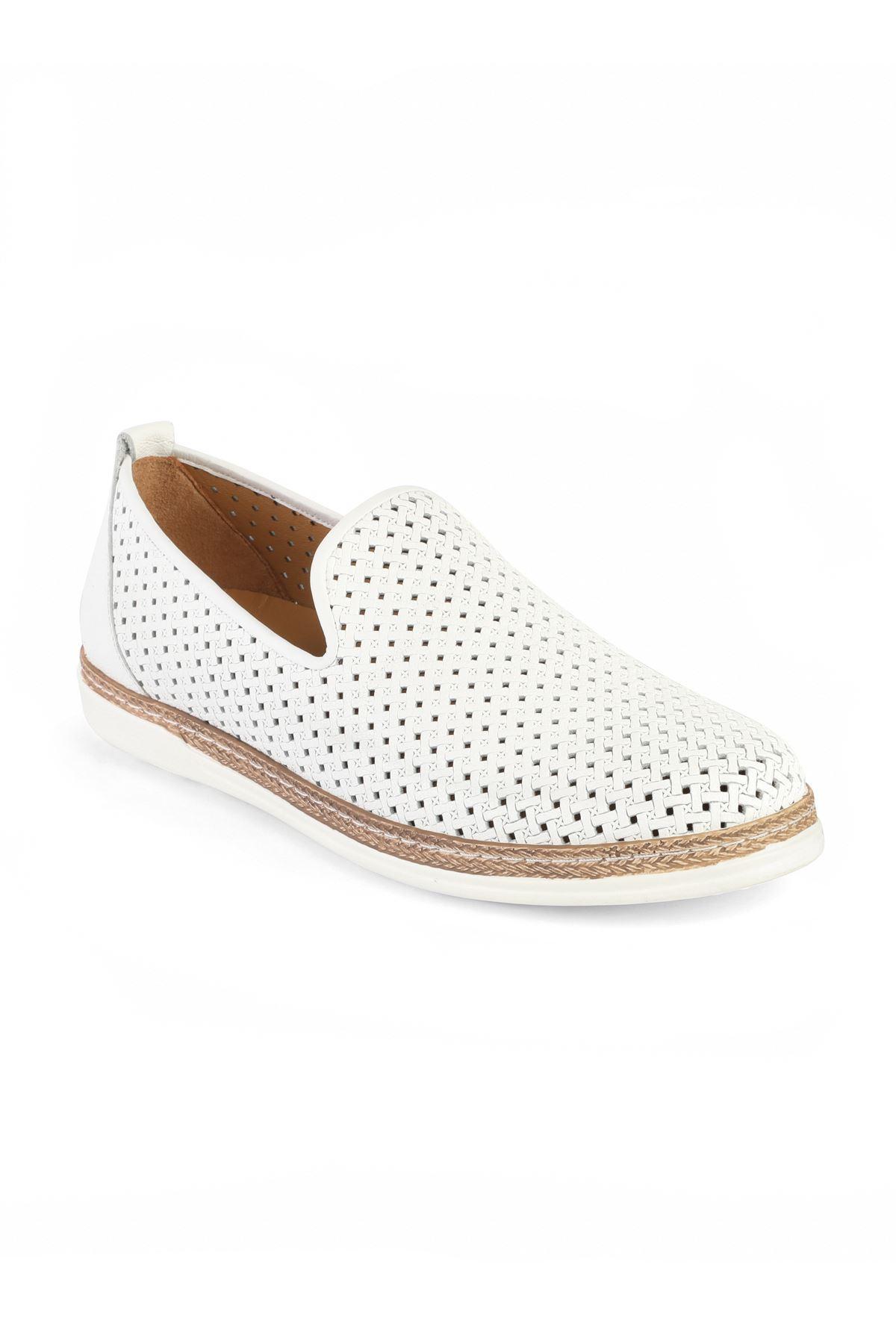 Libero 3397 Beyaz Loafer Ayakkabı