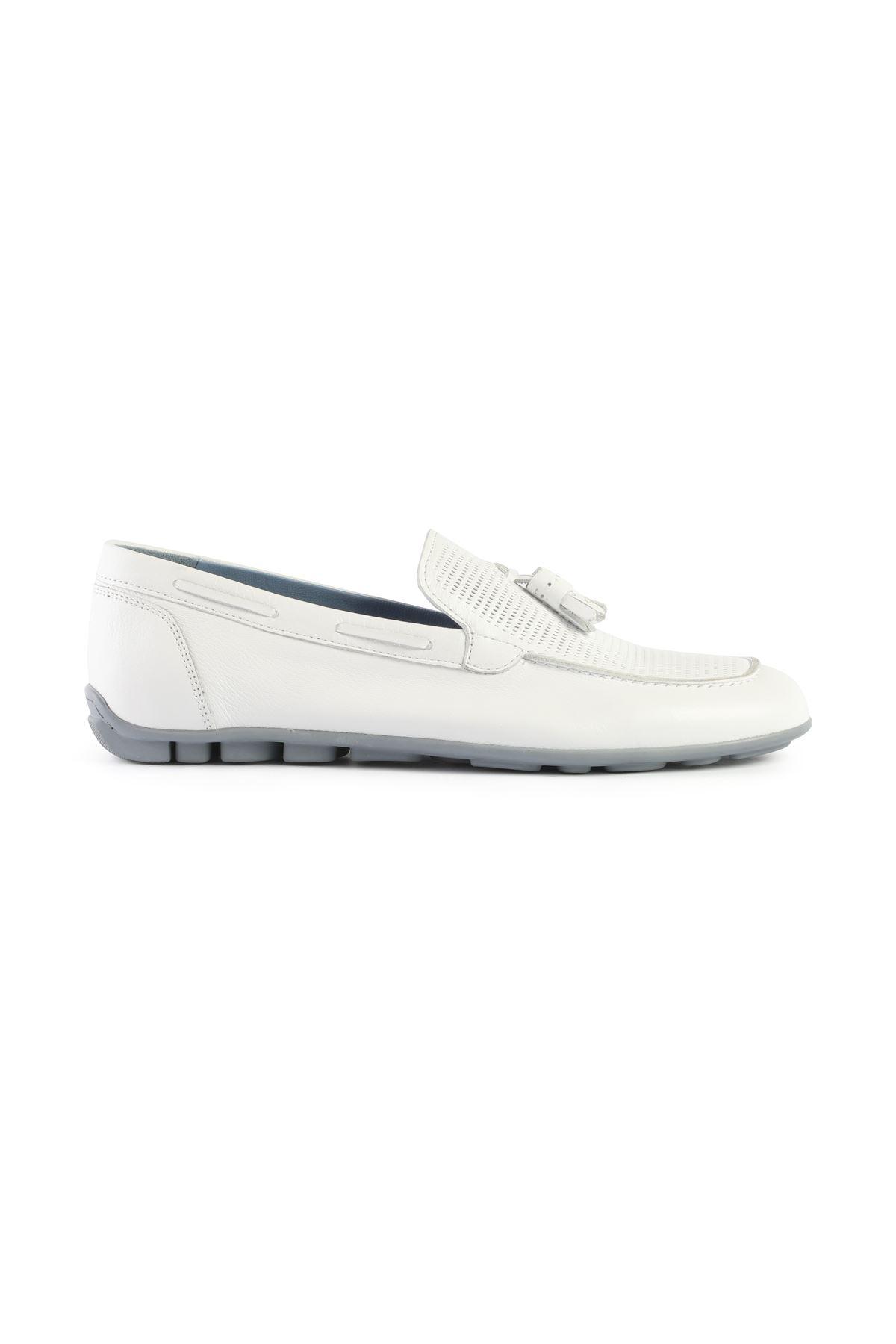 Libero L3408 White Loafer Shoes