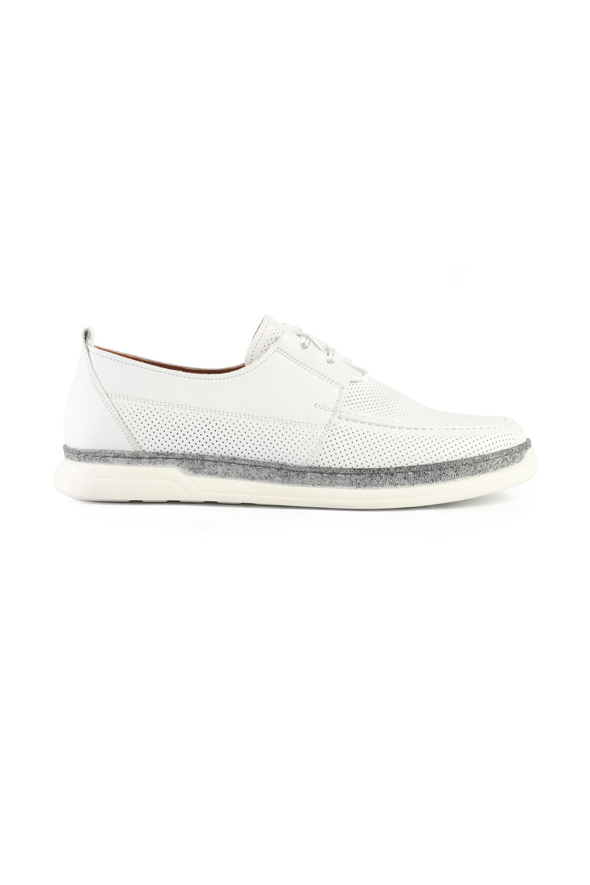 Libero L3418 White Loafer Shoes