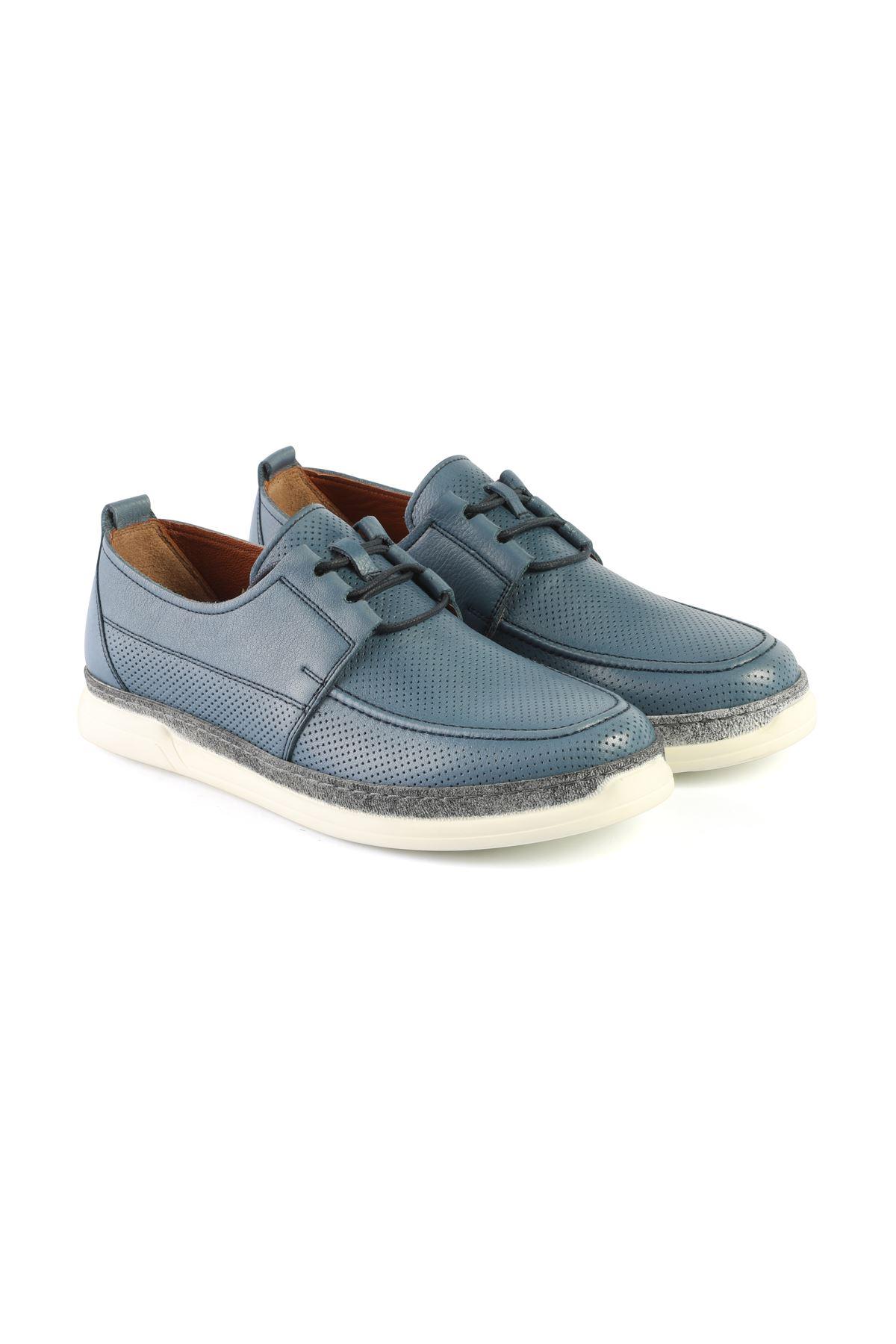Libero L3418 Blue Loafer Shoes
