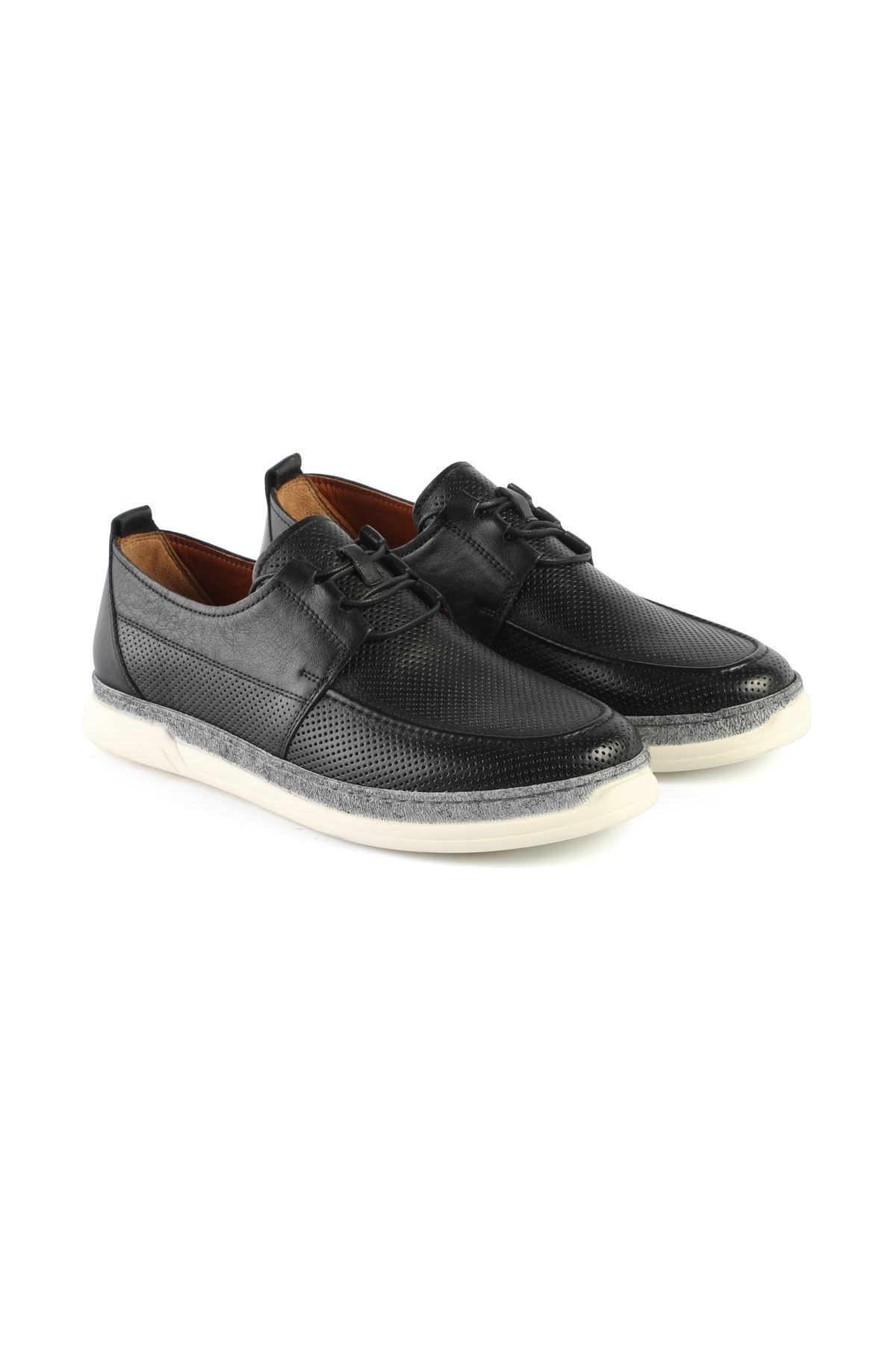 Libero L3418 Black Loafer Shoes