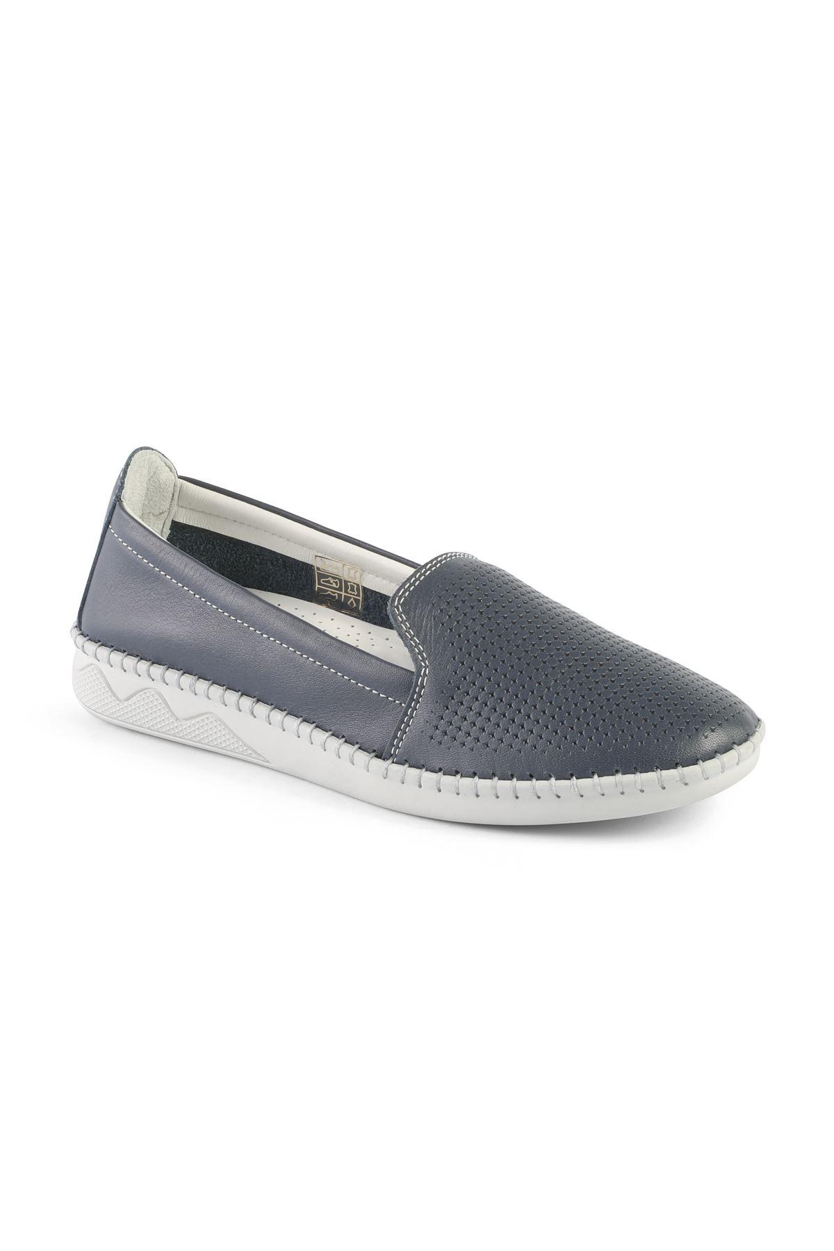 Libero FMS239 Navy Blue Babette Shoes