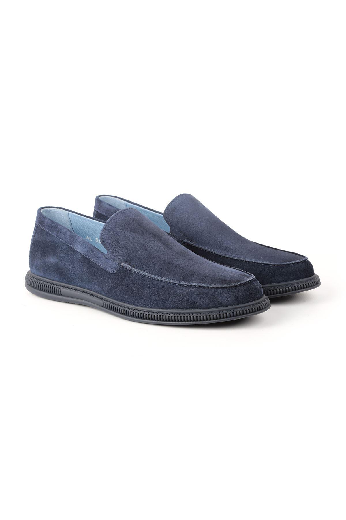 Libero L3635 Navy Blue Loafer Men's Shoes