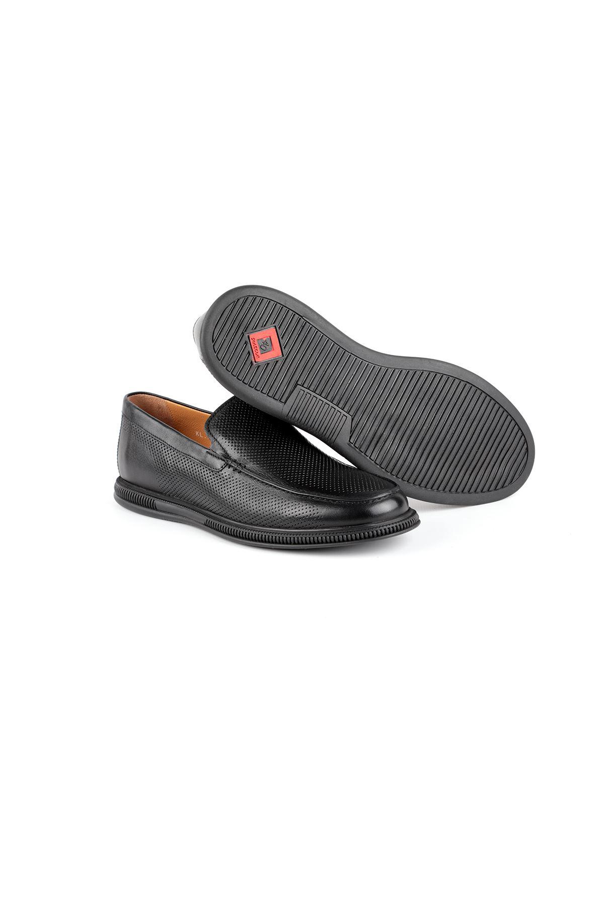 Libero L3788 Black Loafer Shoes